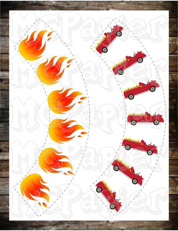 Firefighter Cupcake Wrappers