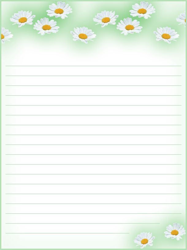 FREE Printable Floral Lined Stationery - Money Savers at Kid Scraps