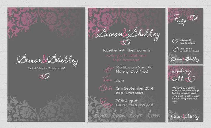 Latest wedding invitation design www.wrappd.com.au