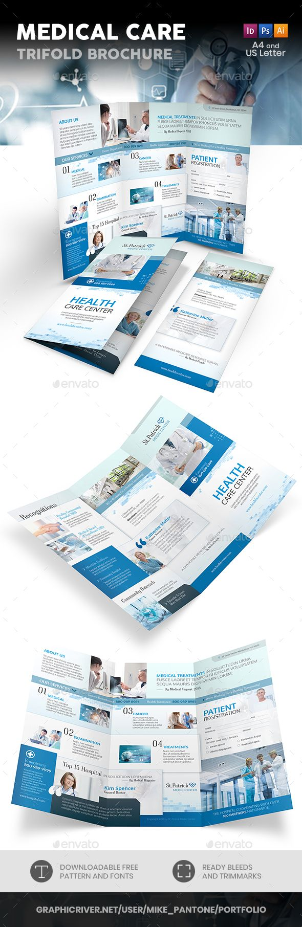 Medical Care Trifold Brochure - Informational Brochures  Download here : graphic...