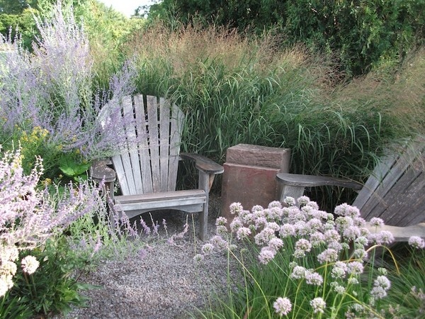 be sure to include a place to rest relax and reflect on your memory garden