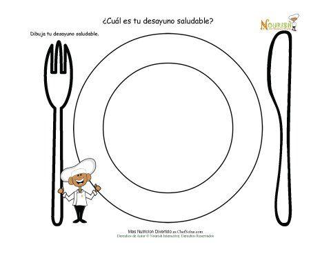 Actividad de dibujar para los niños. Esta actividad es una gran herramienta para ayudarles a los niños a aprender de la importancia del desayuno y los alimentos que componen un desayuno saludable.