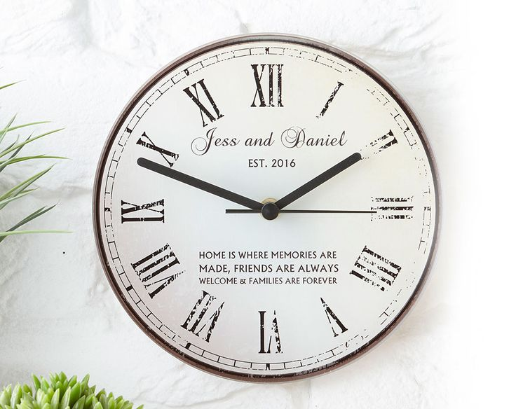 Personalised Rustic Message Glass Clock £28 Wall-mounted rustic look glass clock. Tick Tock whats your favourite time of the day?! KLife Kleeneze