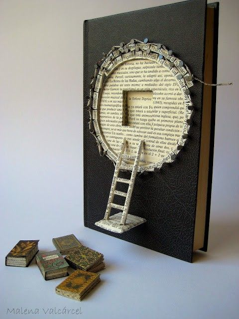 Altered book by Malena Valcárcel