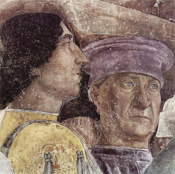 Mantegna. Autoportrait 2 extrait de La chambre des époux (1465-74)