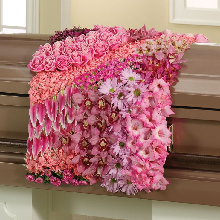 Funeral Casket Blanket Spray
