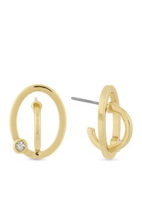 Laundry By Shelli Segal Women Hoop Stud Earring - Gold - One Size