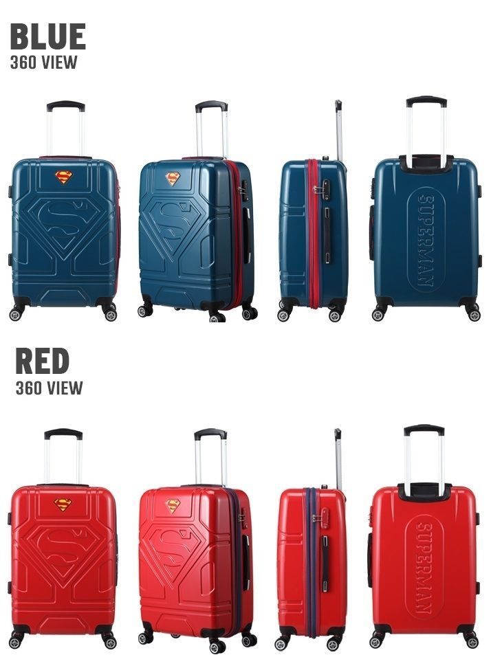 Superman Origin Flight Cabin MULTIWHEEL Carry-On Trolley Polycarbonate Approved #LUCKYFACTORY