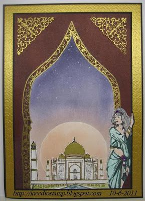 I need to stamp: Arabian nights