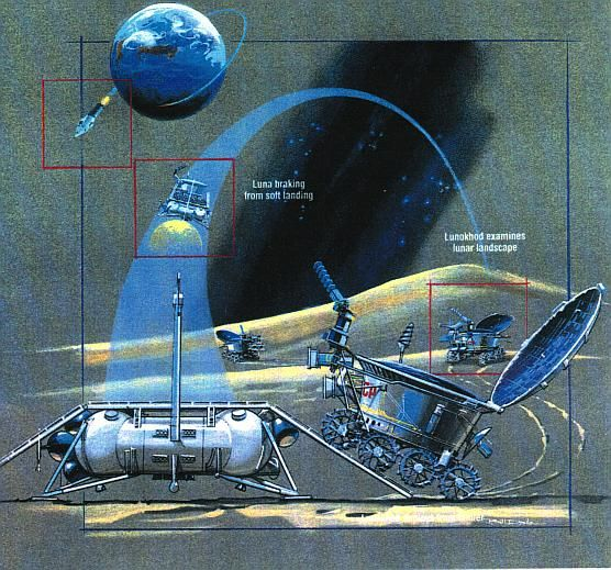 """Lunokhod (Russian: Луноход, """"Moonwalker"""") was a series of Soviet robotic lunar rovers designed to land on the Moon between 1969 and 1977."""