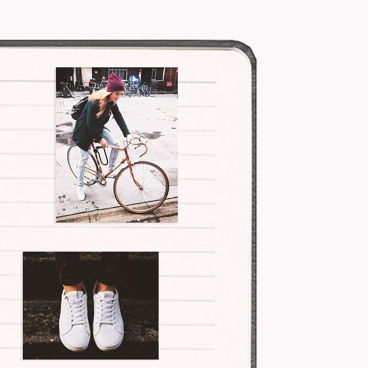 """""""Life is like riding a bicycle. To keep your balance you must keep moving.""""Albert Einstein #SYOUandColombia #notebook #bicycle #life #diary #collage #WalkWithUs (4/6)"""