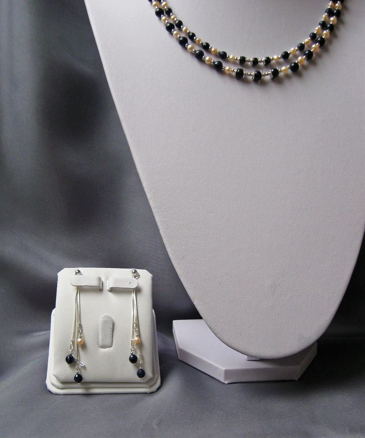 https://flic.kr/p/DKLXbg | LUXURY SET - Earrings | Unique luxury set, two strings necklace, earrings and two bracelets made of natural sapphire, natural pearls and 925 silver (all decorative and technical accessories)