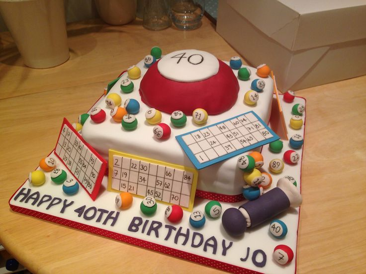 Cake Decorating Store Underwood : Bingo Cake Cake Ideas Pinterest Bingo Cake, Bingo ...