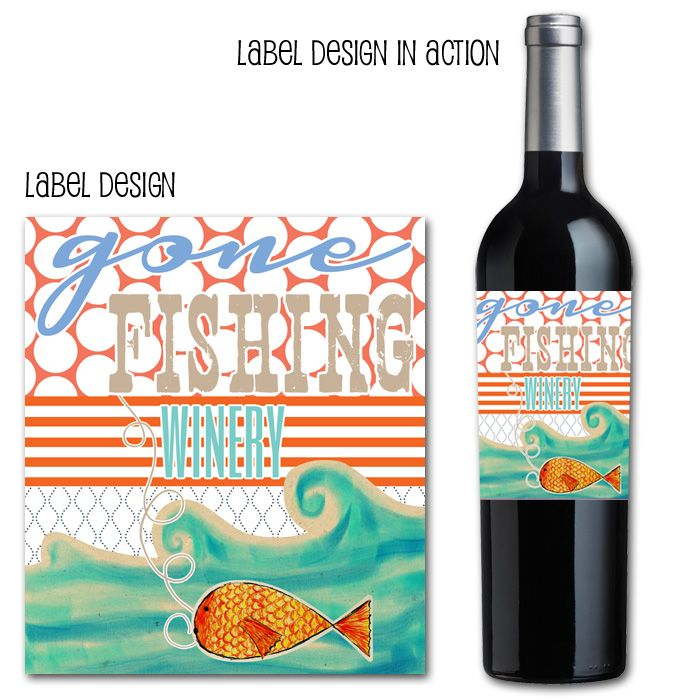 41 best bottle label images on pinterest for Best wine with fish