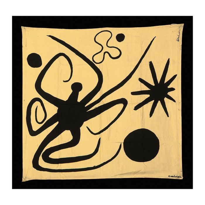 A beautiful 1946 Silk La Mer by Alexander Calder