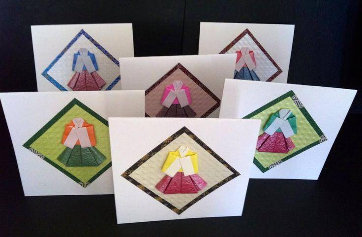 Carte 5 Origami hanbok