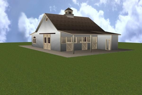 3 stall horse barn plan with ground apartment my style