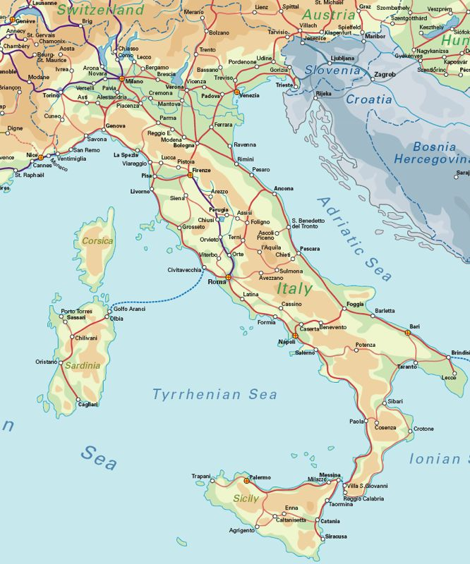 Italy Rail Map | Rail Maps | Pinterest | Italy rail map ...