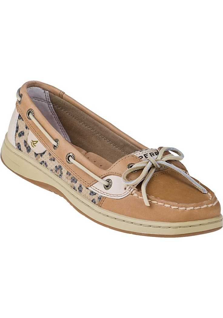 Sperry Top-Sider Angelfish Boat Shoe Leopard/Tan Leather - Jildor Shoes,  Since 1949