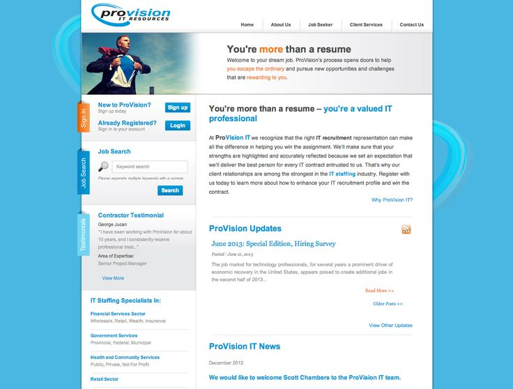 ProVision - Website design and development - Treefrog is your web design, graphic design and web development agency. To see more of our work visit www.treefrog.ca