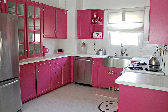 Hello Kitty kitchen!!! >^__^ adam said i could di something like this. Idk if i will