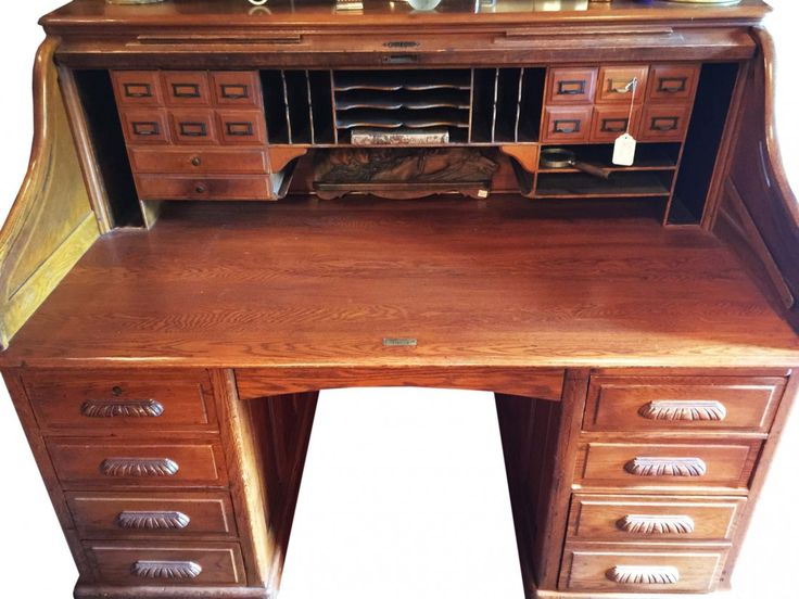 Antique Oak Massive Attorney Desk