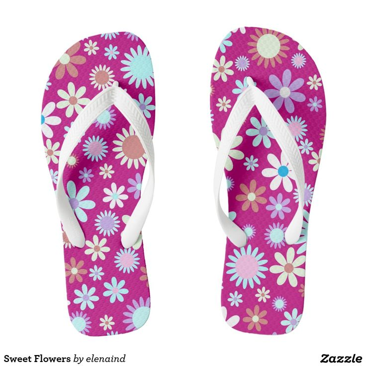 Sweet Flowers Flip Flop by Elenaind #Zazzle