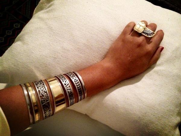 Azza Fahmy Nostalgia Scarab Ring and 2010 Azza Fahmy For Preen Bangle #USxYOU #MyJourney #azzafahmy