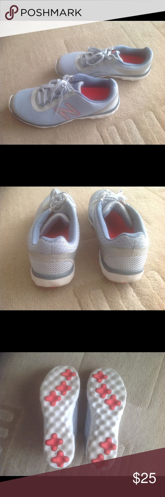 New Balance 695 v2 Lightweight Walking Shoe Like New.  Light Blue, Silver and Pink detail. Only worn once.  WOB New Balance Shoes Sneakers