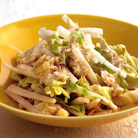 大根とキャベツのツナサラダ | 重野佐和子さんのおつまみの料理レシピ | プロの簡単料理レシピはレタスクラブニュース