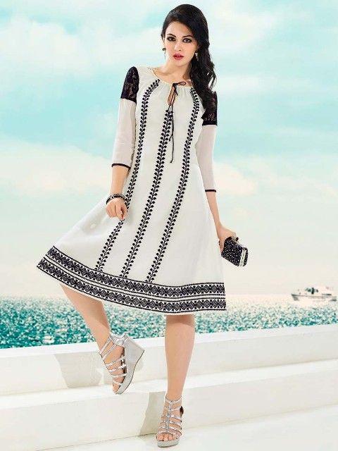 Stylish Summer Eid Kurti and Tunics Dresses Collection