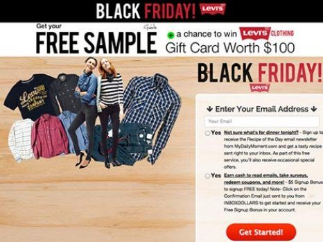 Black Friday! Totally Free: Levi's  #FreeSamples #BlackFridayOffers #BlackFridayDeals #LevisStuff #US