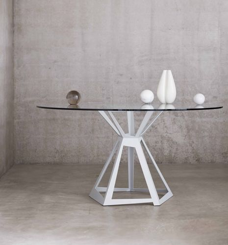 The Kite - Round Glass Dining Table