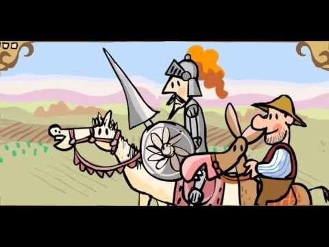 Cuentos infantiles El ingenioso hidalgo Don Quijote de la Mancha - YouTube. This video is a kids cartoon of Don Quijote.