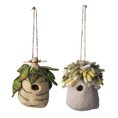 Felt birdhouses for the BIL's collection
