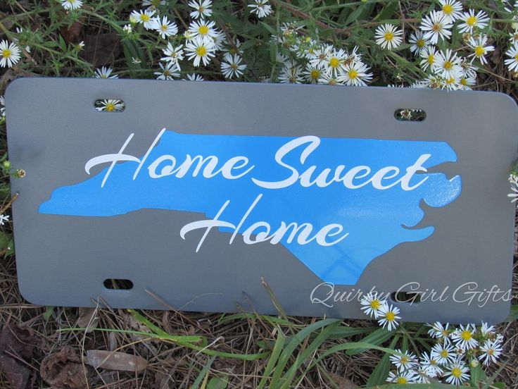 North Carolina Home Sweet Home License Plate - pinned by pin4etsy.com
