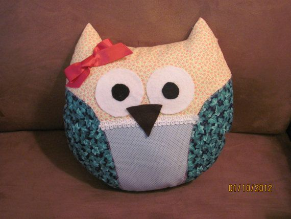 Handmade Owl Pillow  FREE SHIPPING by gingerdail on Etsy, $10.00