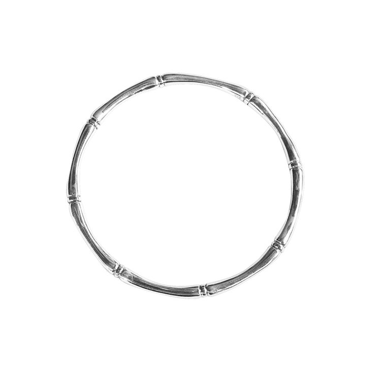 Bamboo Bangle in Sterling Silver. Shop the full collection at www.murkani.com.au