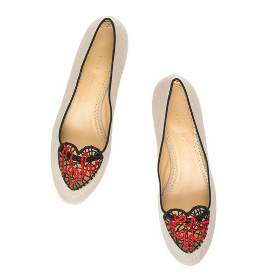 #CharlotteOlympia #BeMyValentine collection #Oohlala #ballet #flats #Valentine's