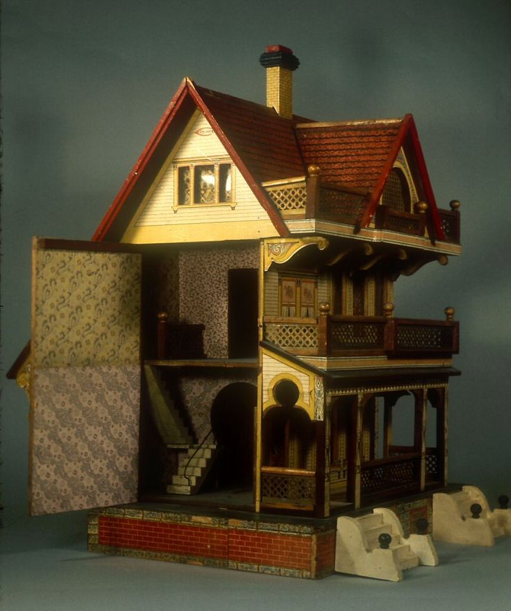 73.356: dollhouse | Dollhouses | Toys | National Museum of Play Online Collections | The Strong Bliss house.  Jean Nordquist kit is similar.
