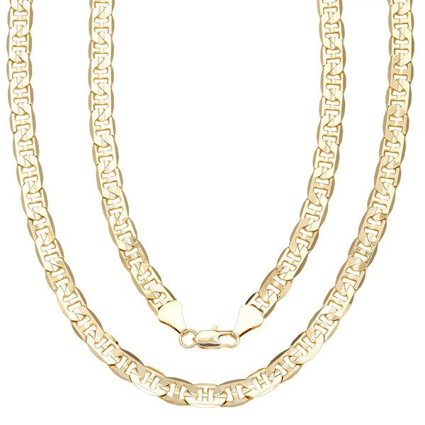 Simon Frank 14k Gold Overlay 8mm Gucci-style Necklace ($22) ❤ liked on Polyvore featuring men's fashion, men's jewelry, men's necklaces, yellow, 14k gold mens necklace, mens gold chain necklace, mens gold pendant necklace, mens yellow gold cross necklace and mens 14k gold chain necklace