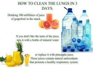 How to clean out the lungs in 3 days with this detox regime.