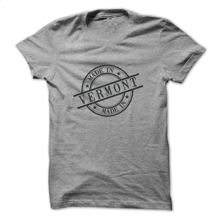 Made In Vermont Stamp Style Logo Symbol Black T Shirt, Hoodie, Sweatshirts - t shirt design #shirt #T-Shirts