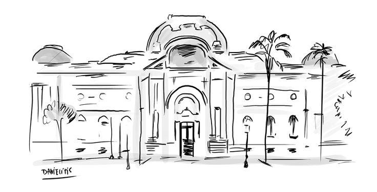 Bello Museo de Bellas Artes en Santiago