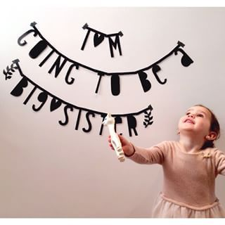 #Wordbanner #tip: I'm going to be a big sister - Buy it at www.vanmariel.nl - € 11,95