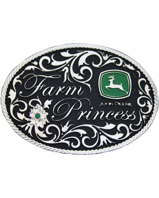 Farm Princess John Deere Buckle