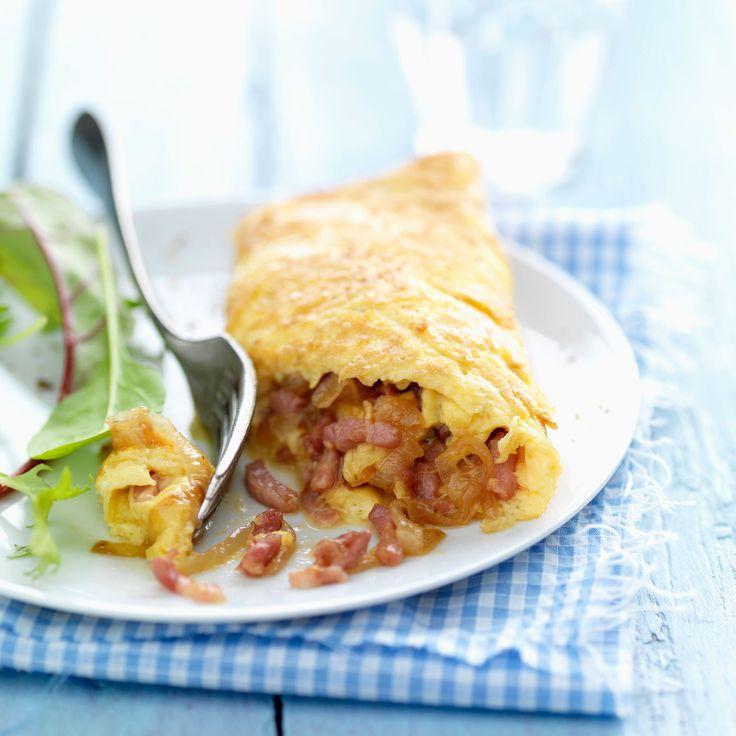 Découvrez la recette omelette aux lardons sur cuisineactuelle.fr.