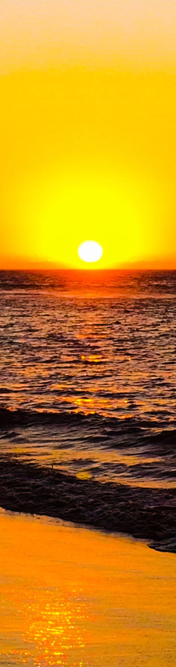 Amazing sunset in Mancora beach, Piura, Peru
