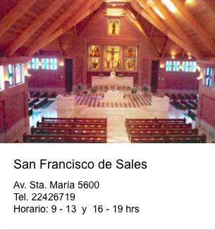 Iglesia San Francisco de Sales  Av. Santa María 5600 Vitacura