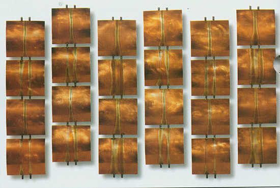 Ascending Copper Squares Wall Sculpture Set Of Six from Shop 4MyRooms.
